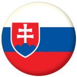 Slovakia Country Flag 58mm Button Badge